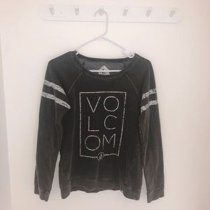Faded Black Crew Neck • Volcom • Small • EUC